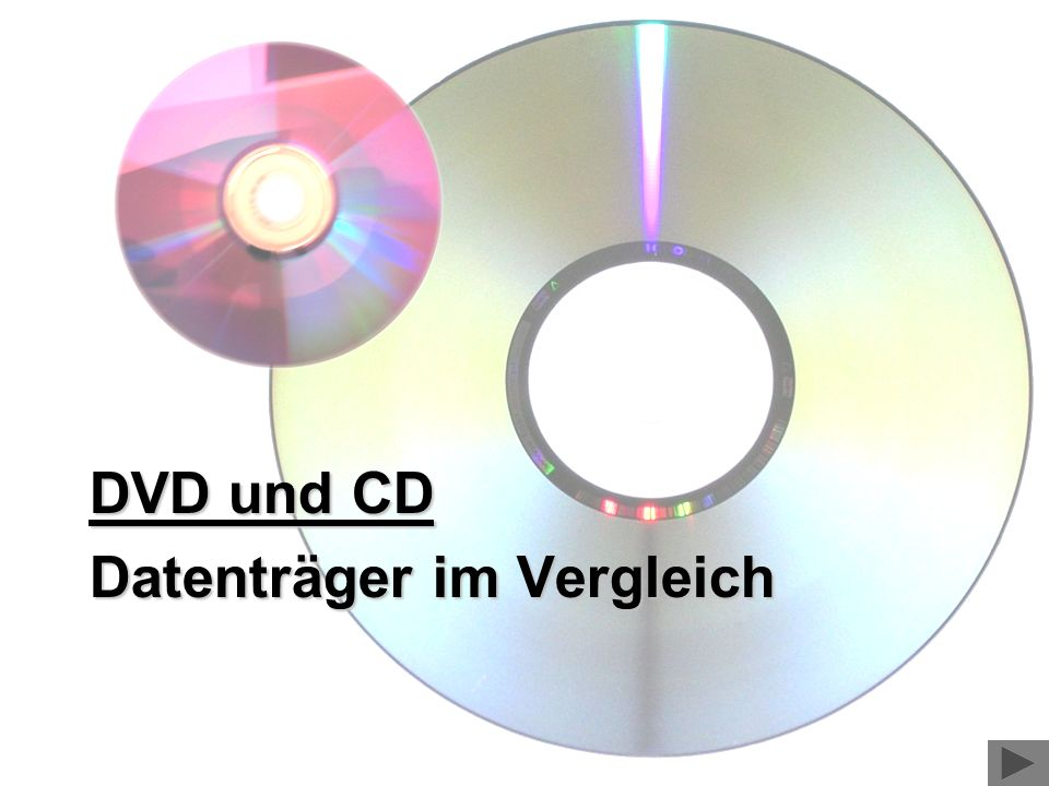 DVD und CD Datenträger im Vergleich