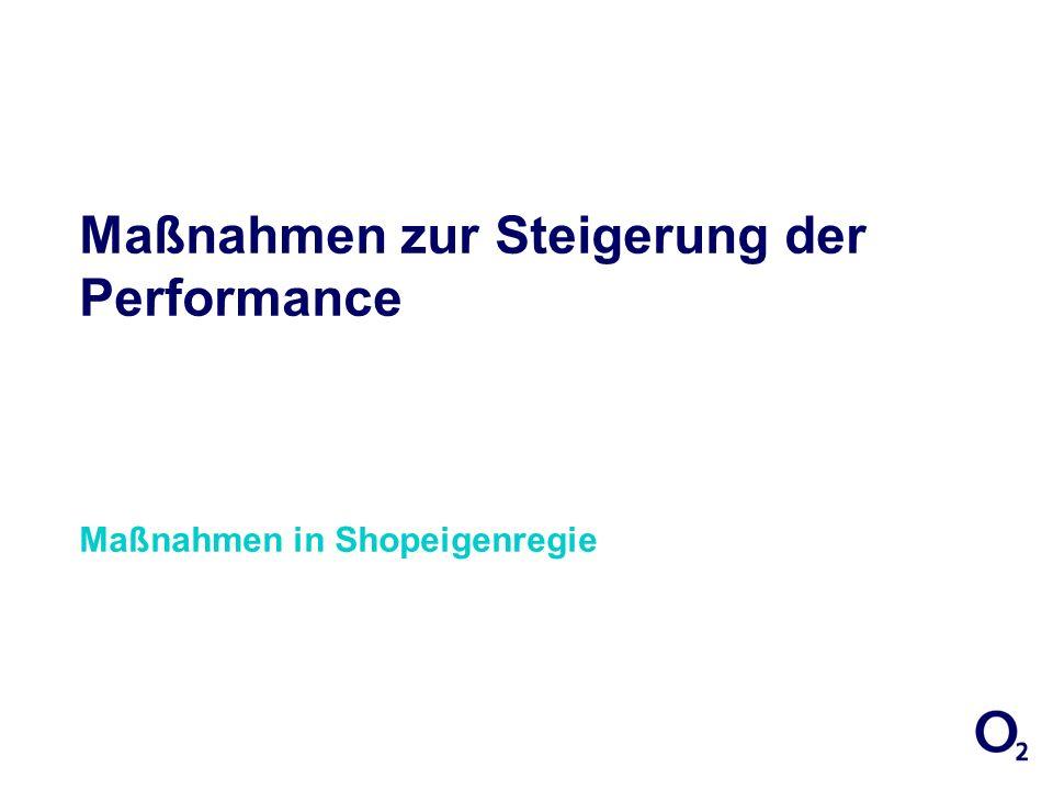 Maßnahmen zur Steigerung der Performance Maßnahmen in Shopeigenregie