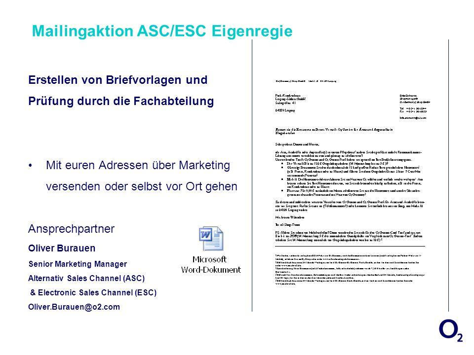 Mailingaktion ASC/ESC Eigenregie