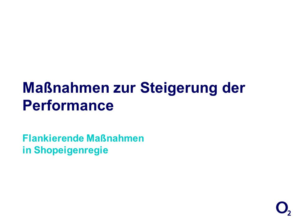 27/03/2017 17:01:29 Maßnahmen zur Steigerung der Performance Flankierende Maßnahmen in Shopeigenregie.