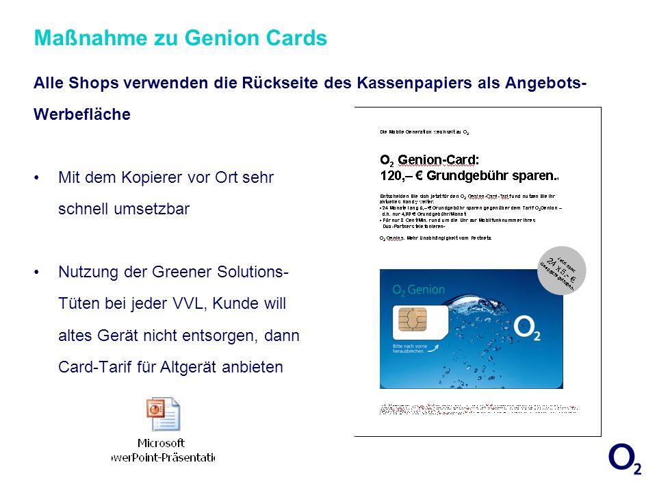 Maßnahme zu Genion Cards