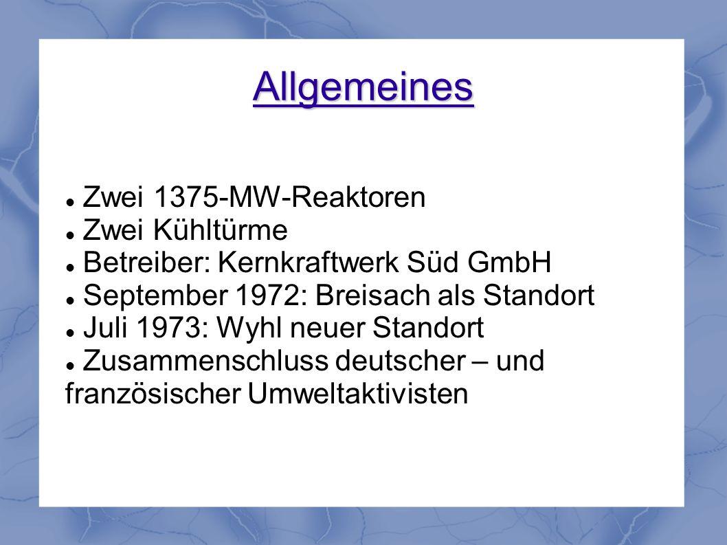 Allgemeines Zwei 1375-MW-Reaktoren Zwei Kühltürme