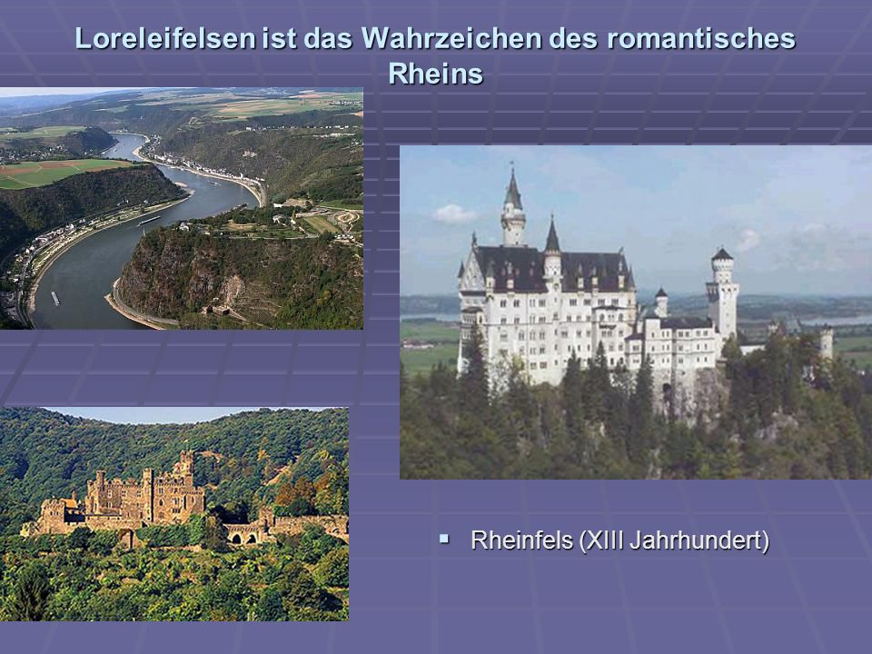 Loreleifelsen ist das Wahrzeichen des romantisches Rheins