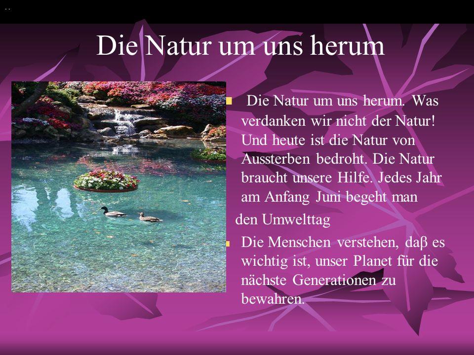 . . Die Natur um uns herum.