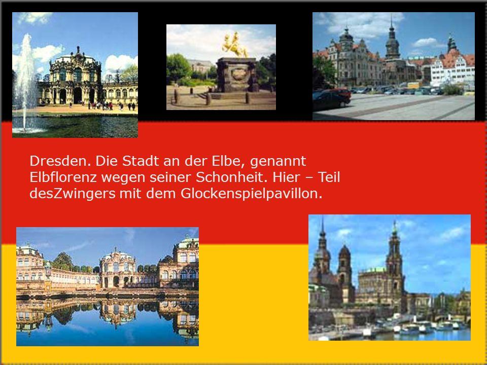 Dresden. Die Stadt an der Elbe, genannt Elbflorenz wegen seiner Schonheit.