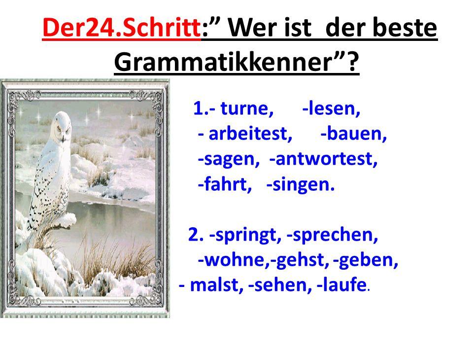 Der24.Schritt: Wer ist der beste Grammatikkenner