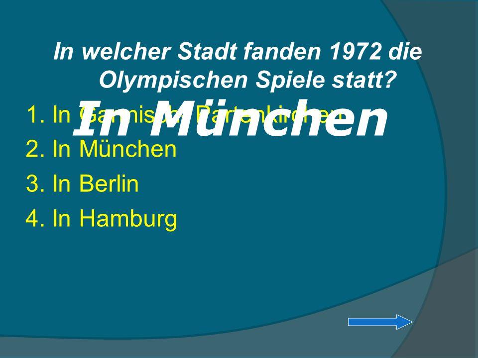 In welcher Stadt fanden 1972 die Olympischen Spiele statt