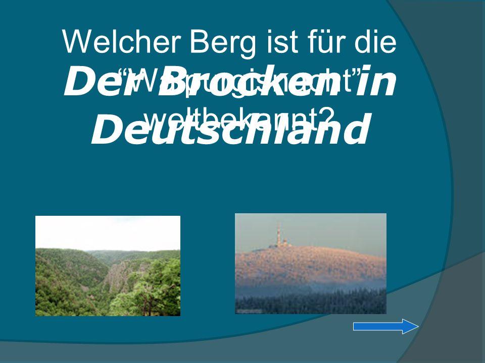 Der Brocken in Deutschland
