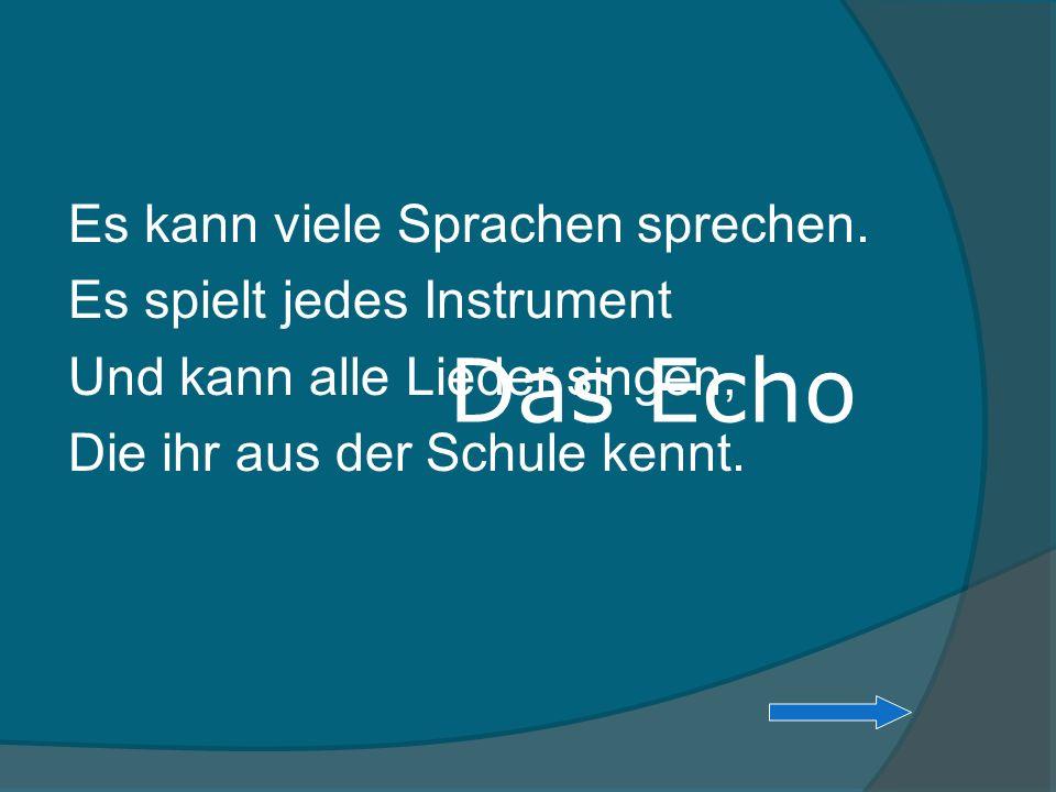 Das Echo Es kann viele Sprachen sprechen. Es spielt jedes Instrument