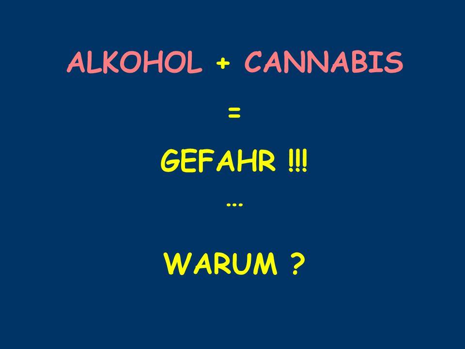 ALKOHOL + CANNABIS = GEFAHR !!! … WARUM