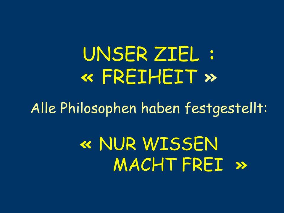 Alle Philosophen haben festgestellt: