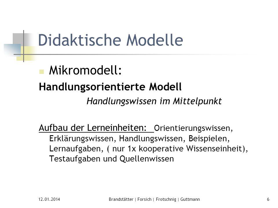 Didaktische Modelle Mikromodell: Handlungsorientierte Modell