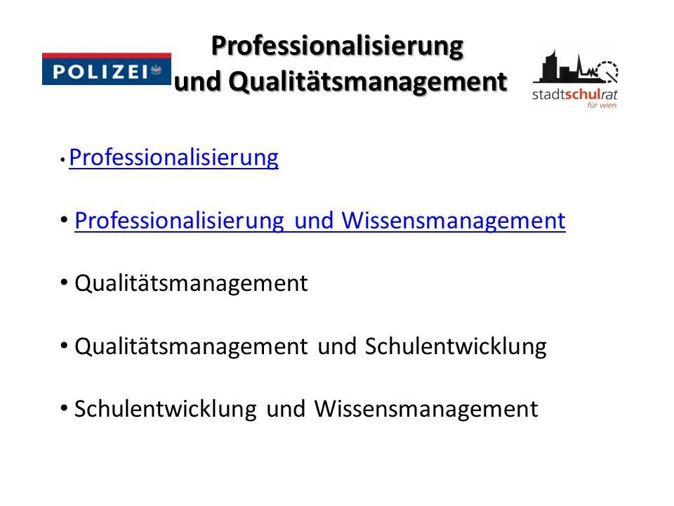 Professionalisierung und Qualitätsmanagement