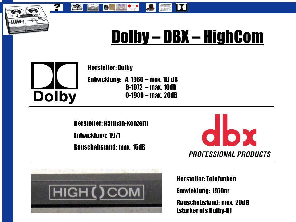 Dolby – DBX – HighCom Hersteller: Dolby
