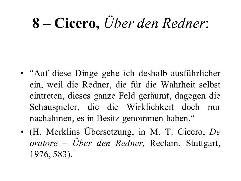 8 – Cicero, Über den Redner: