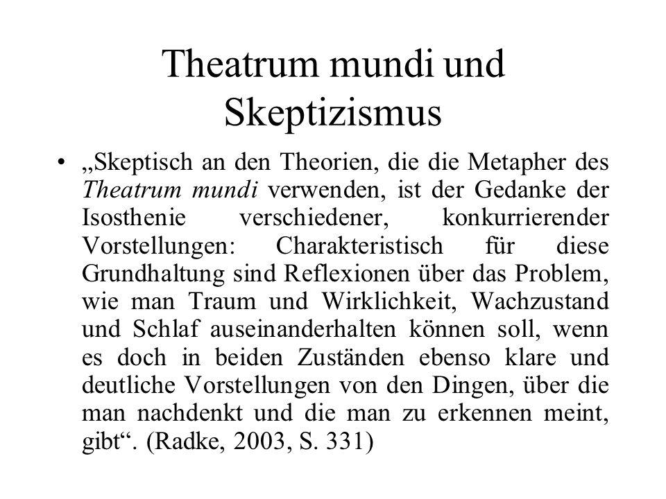Theatrum mundi und Skeptizismus