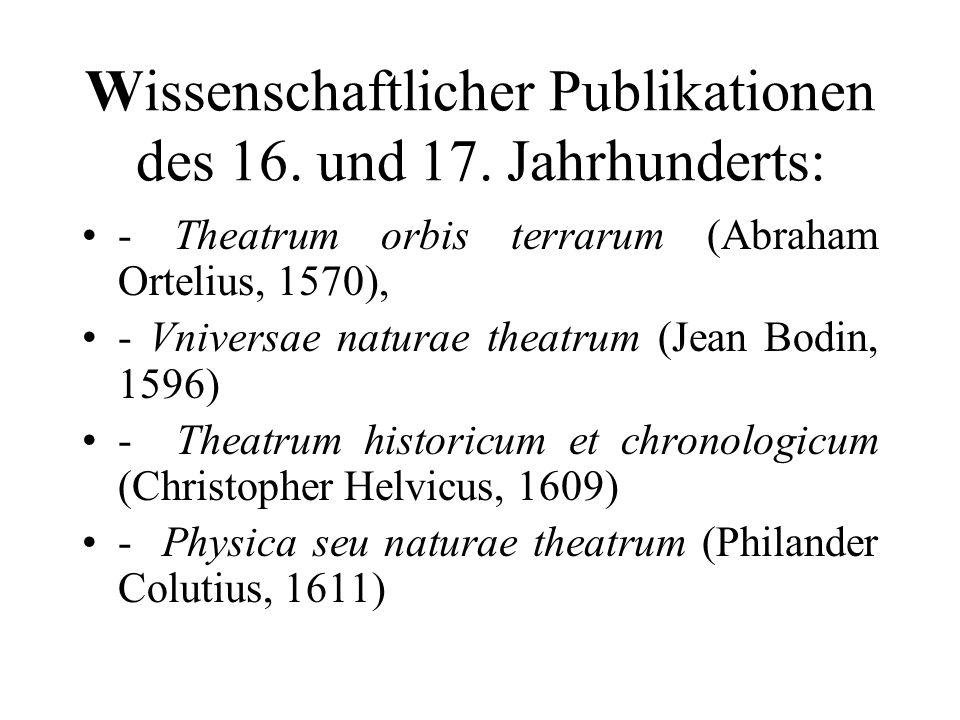 Wissenschaftlicher Publikationen des 16. und 17. Jahrhunderts: