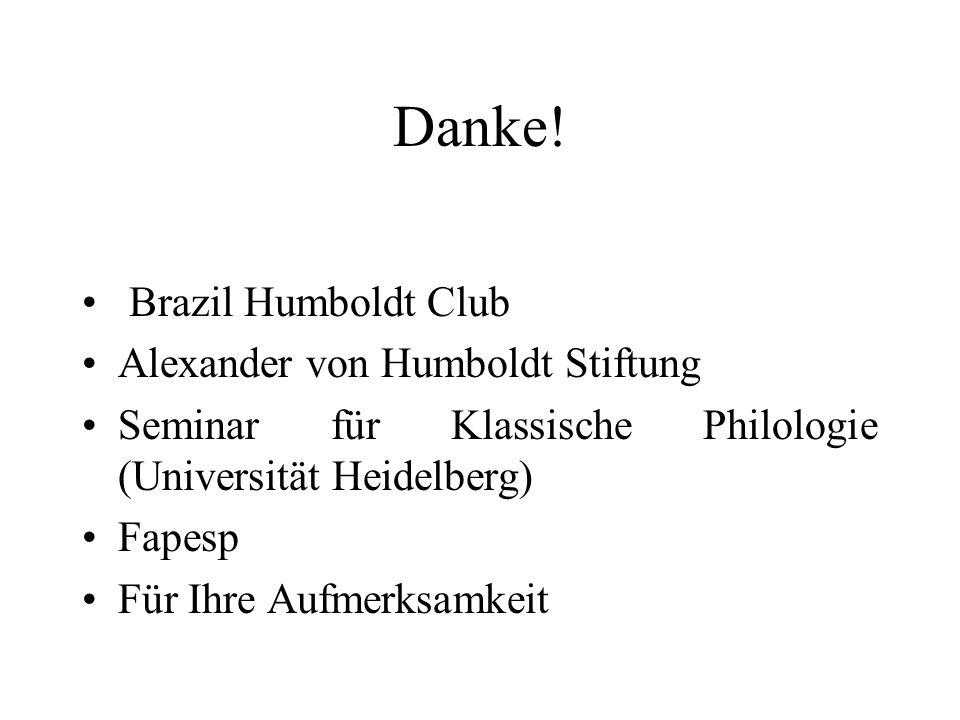 Danke! Brazil Humboldt Club Alexander von Humboldt Stiftung