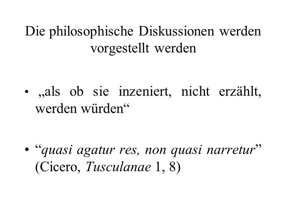 Die philosophische Diskussionen werden vorgestellt werden