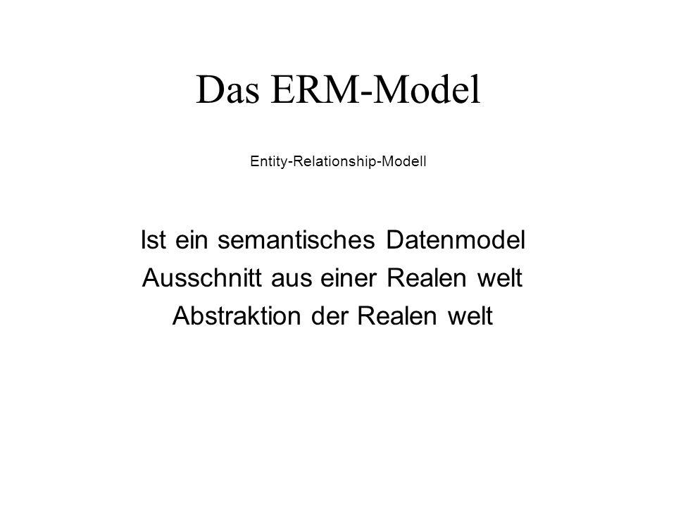 Das ERM-Model Ist ein semantisches Datenmodel