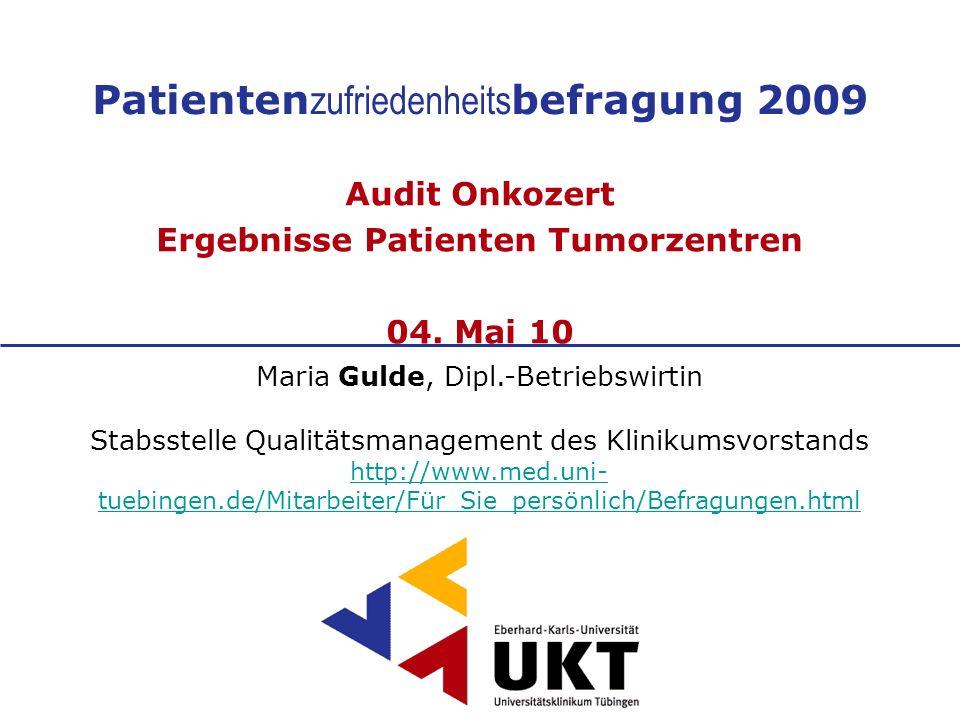 Patientenzufriedenheitsbefragung 2009
