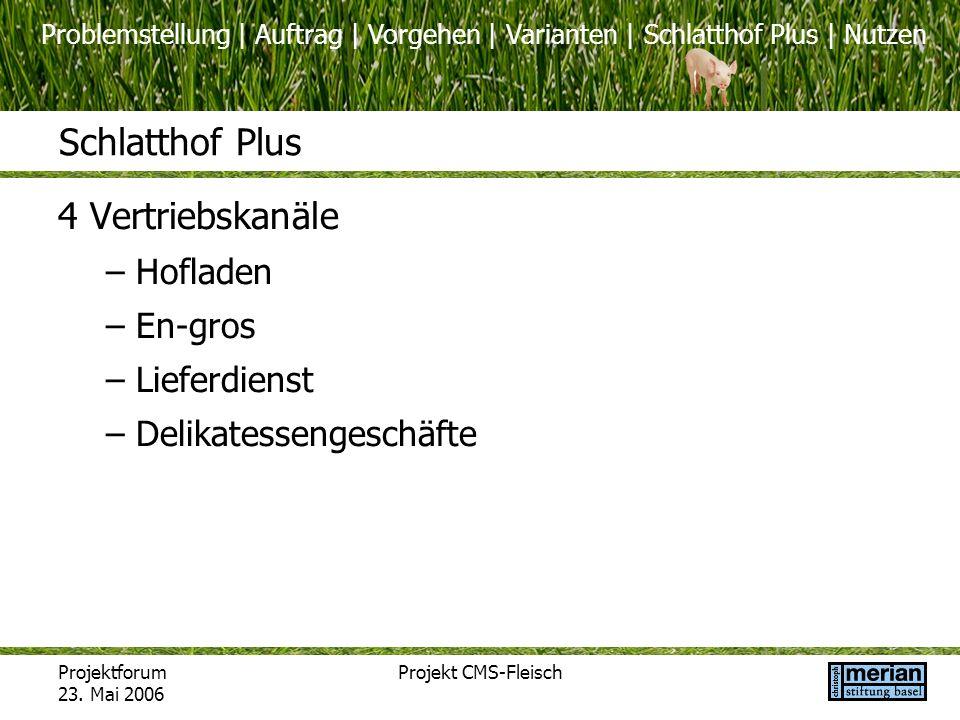 Schlatthof Plus 4 Vertriebskanäle Hofladen En-gros Lieferdienst
