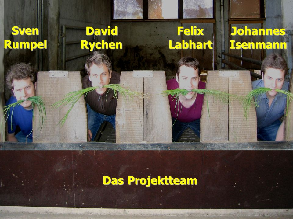 Sven Rumpel David Rychen Felix Labhart Johannes Isenmann Das Projektteam
