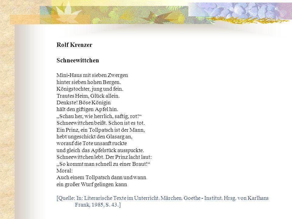 Rolf Krenzer Schneewittchen Mini-Haus mit sieben Zwergen