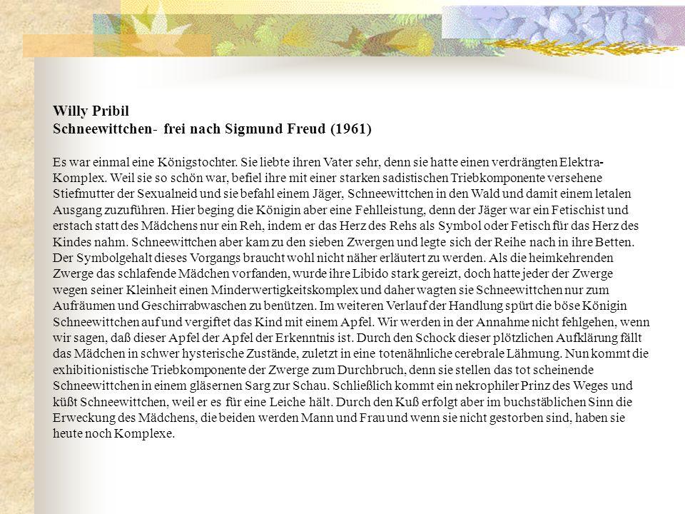 Schneewittchen- frei nach Sigmund Freud (1961)