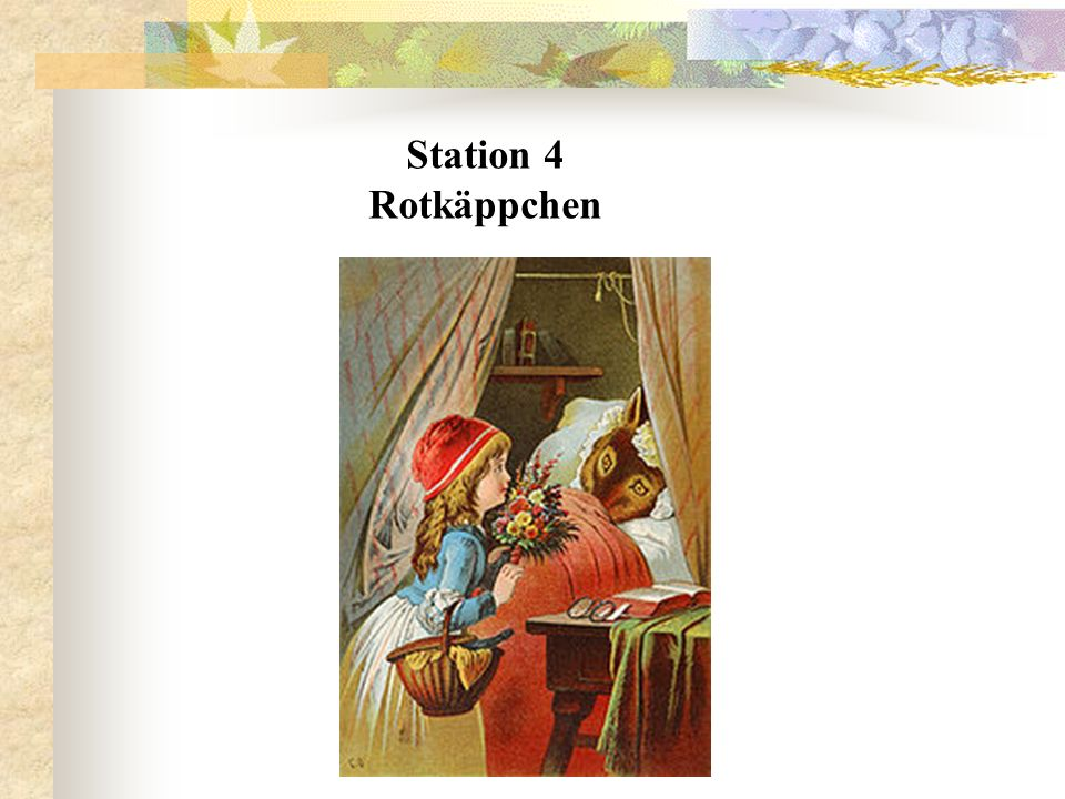 Station 4 Rotkäppchen