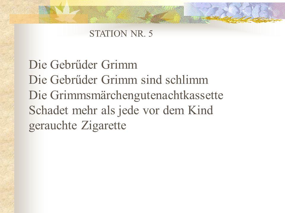 Die Gebrűder Grimm sind schlimm Die Grimmsmärchengutenachtkassette