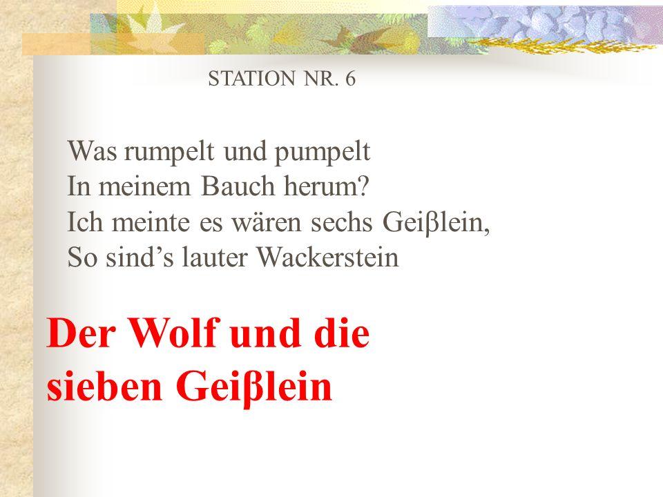 Der Wolf und die sieben Geiβlein