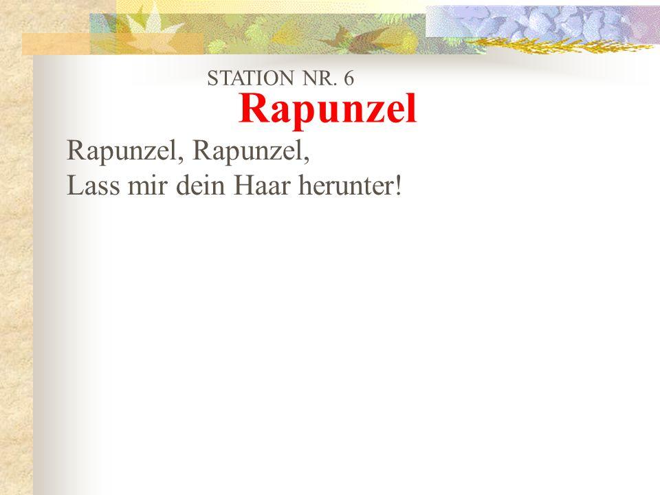 Rapunzel Rapunzel, Rapunzel, Lass mir dein Haar herunter!