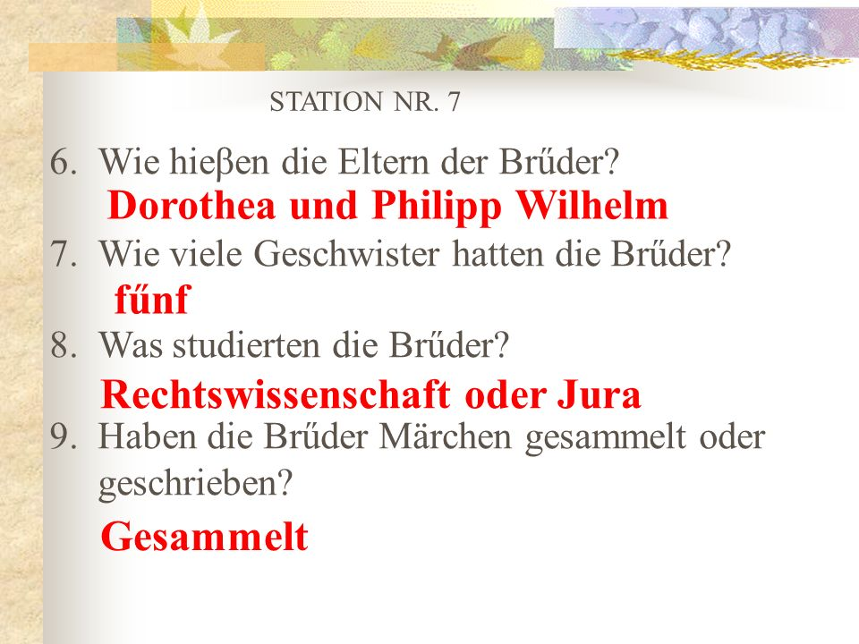 Dorothea und Philipp Wilhelm