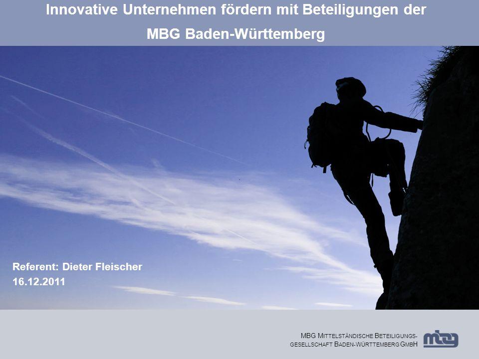 Innovative Unternehmen fördern mit Beteiligungen der