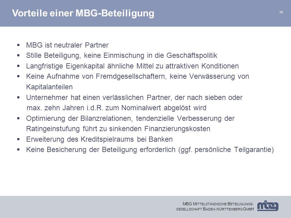 Vorteile einer MBG-Beteiligung