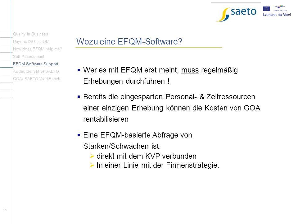 Wozu eine EFQM-Software