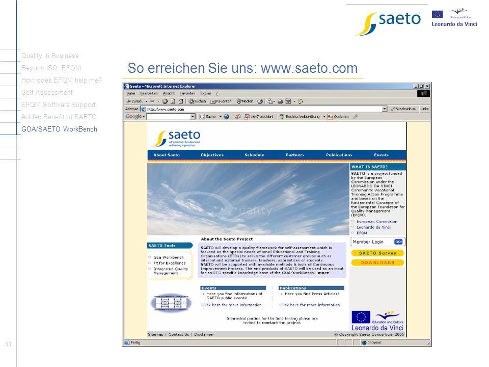 So erreichen Sie uns: www.saeto.com