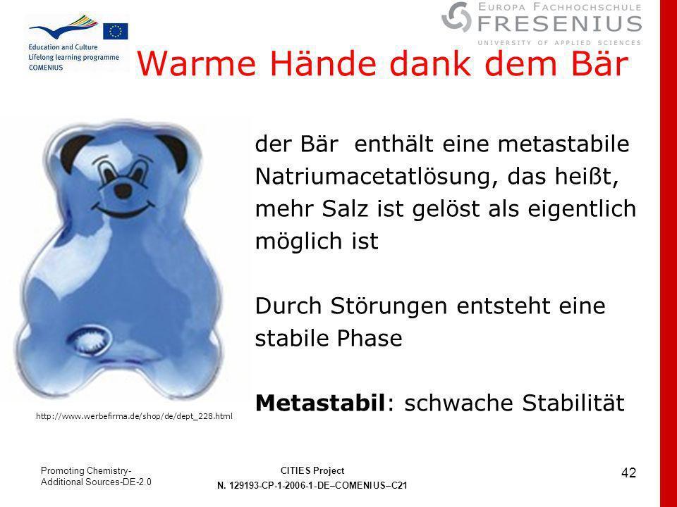 Warme Hände dank dem Bär