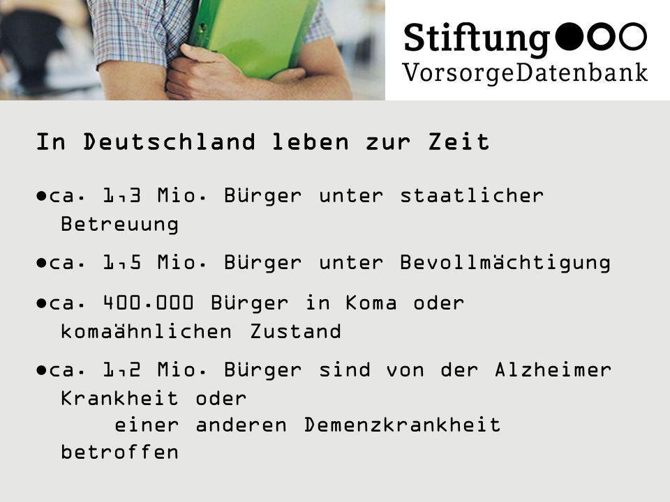 In Deutschland leben zur Zeit