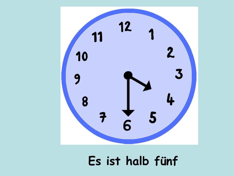 Es ist halb fünf