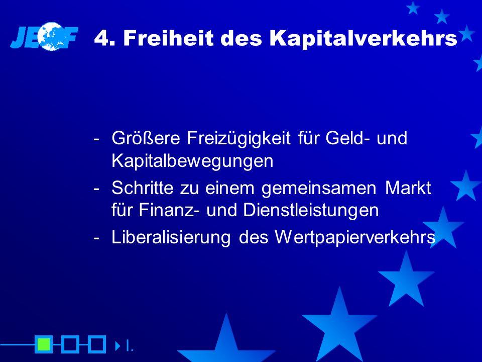 4. Freiheit des Kapitalverkehrs