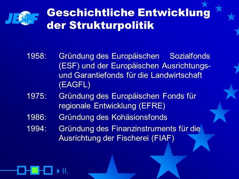 Geschichtliche Entwicklung der Strukturpolitik