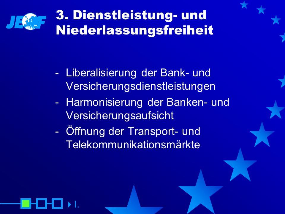 3. Dienstleistung- und Niederlassungsfreiheit