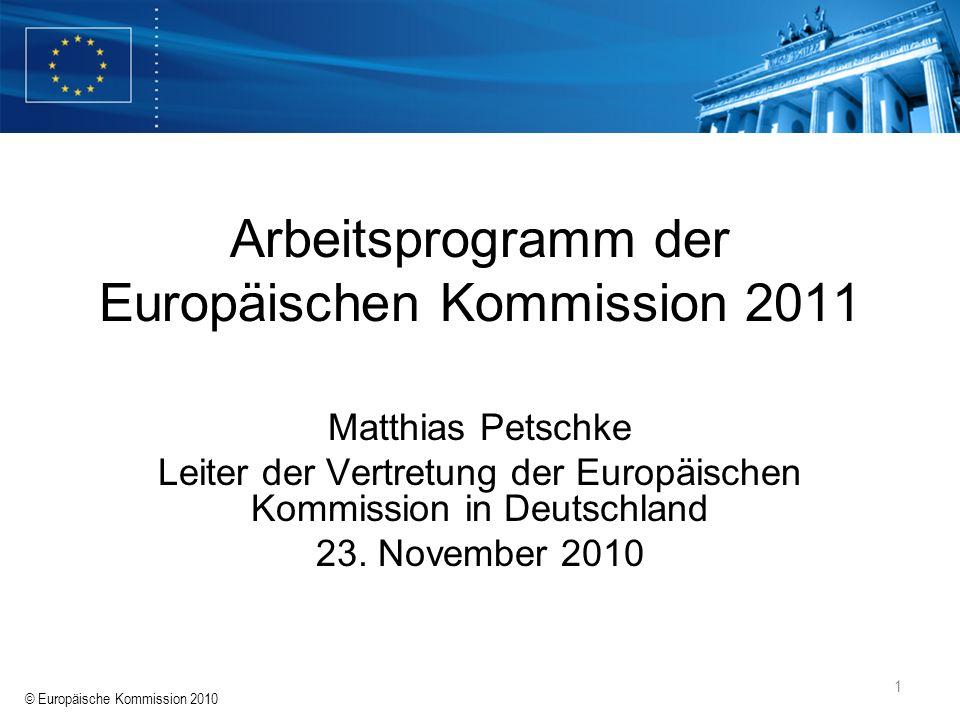 Arbeitsprogramm der Europäischen Kommission 2011