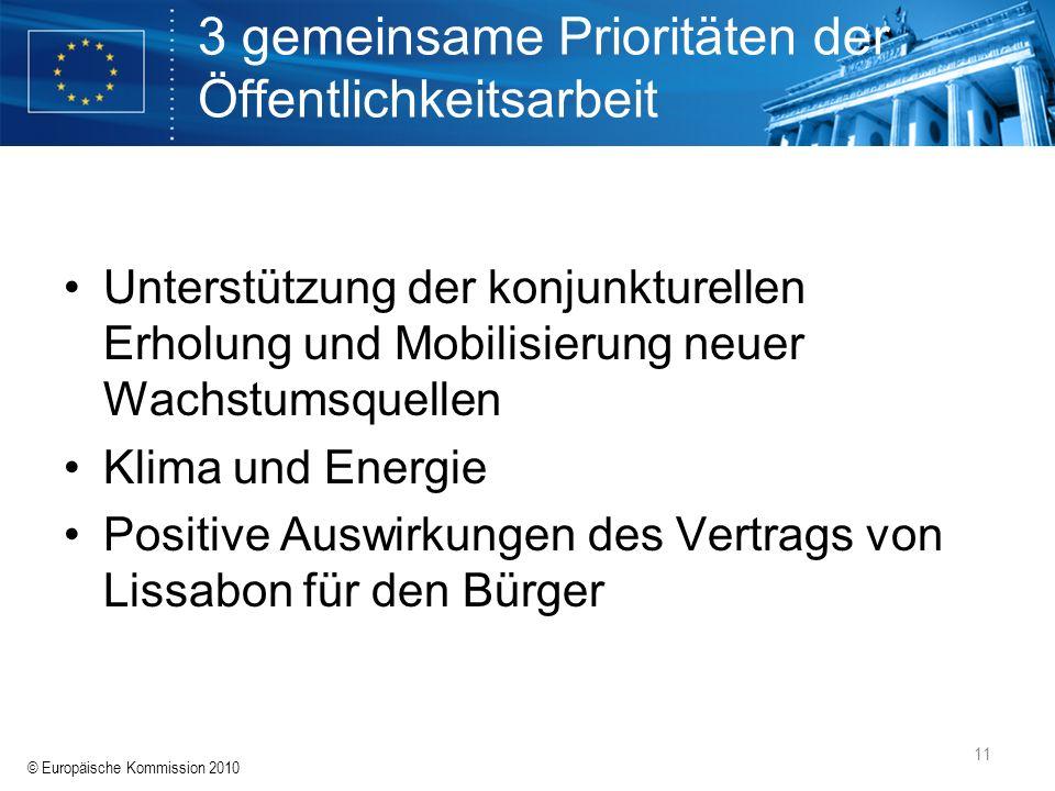 3 gemeinsame Prioritäten der Öffentlichkeitsarbeit