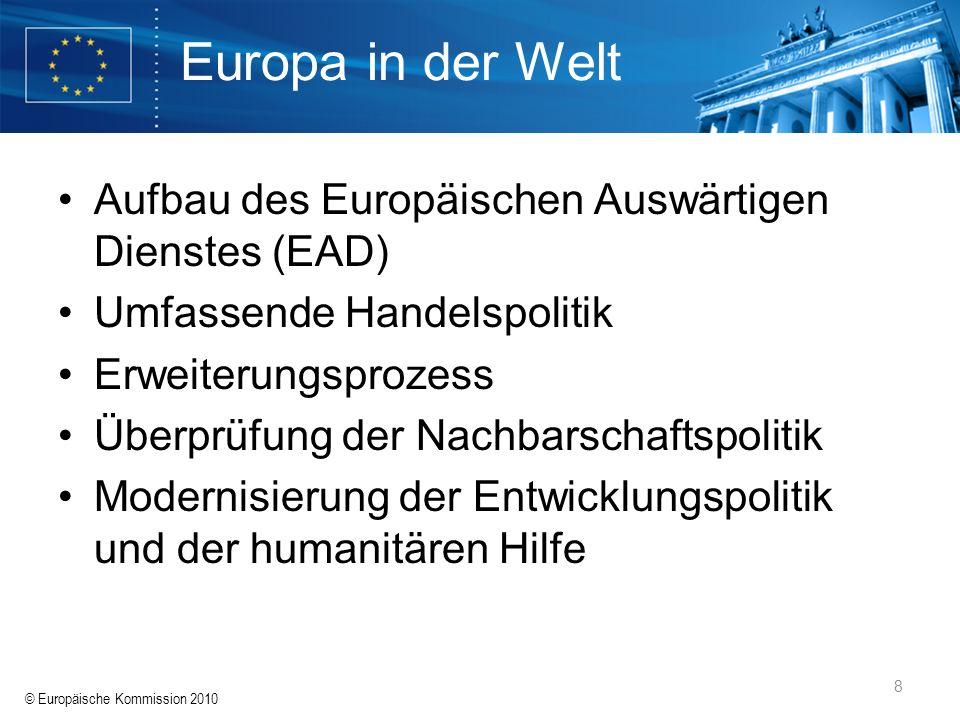 Europa in der Welt Aufbau des Europäischen Auswärtigen Dienstes (EAD)