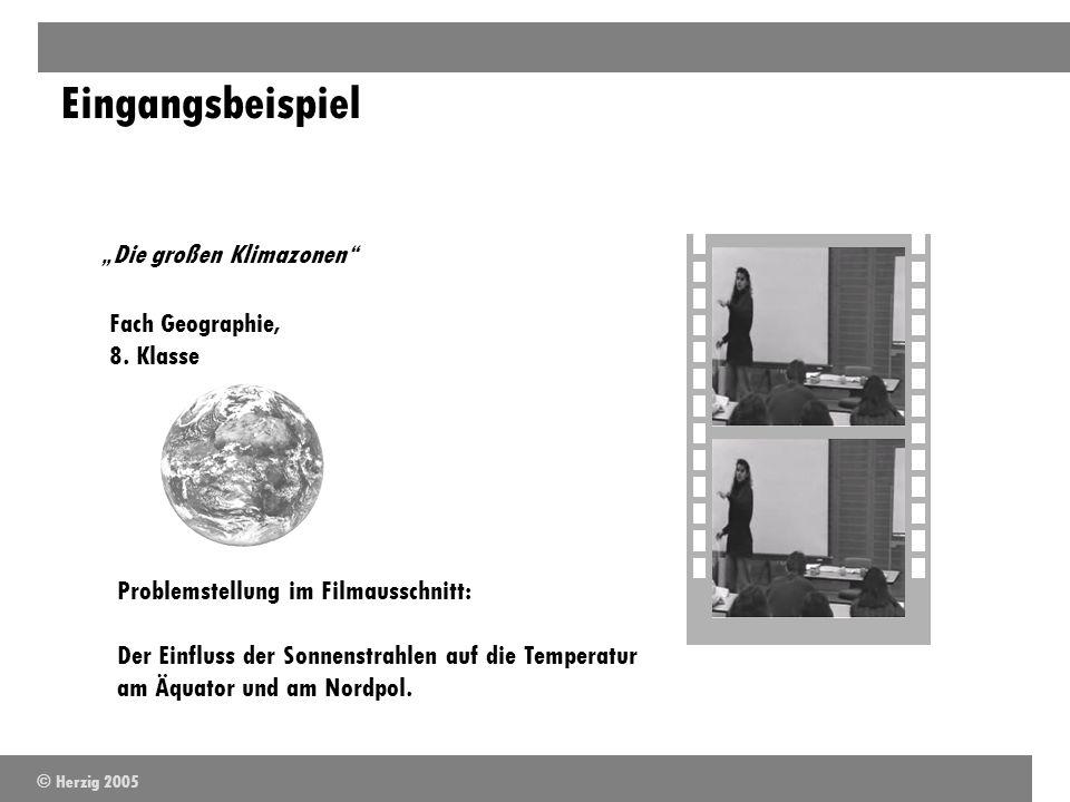 """Eingangsbeispiel """"Die großen Klimazonen Fach Geographie, 8. Klasse"""