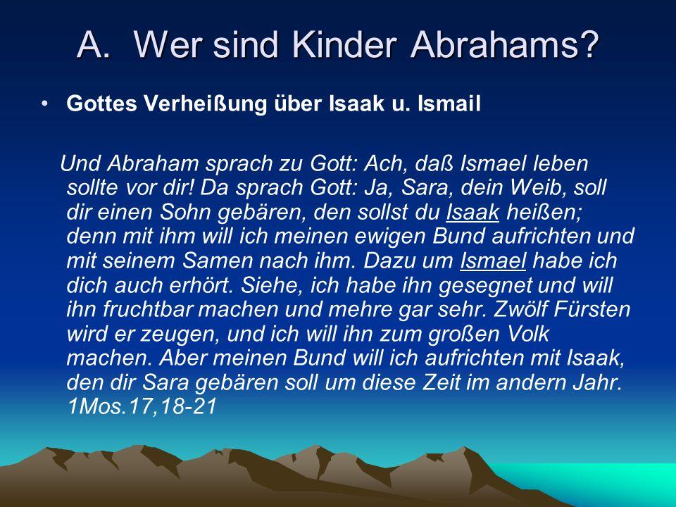 A. Wer sind Kinder Abrahams