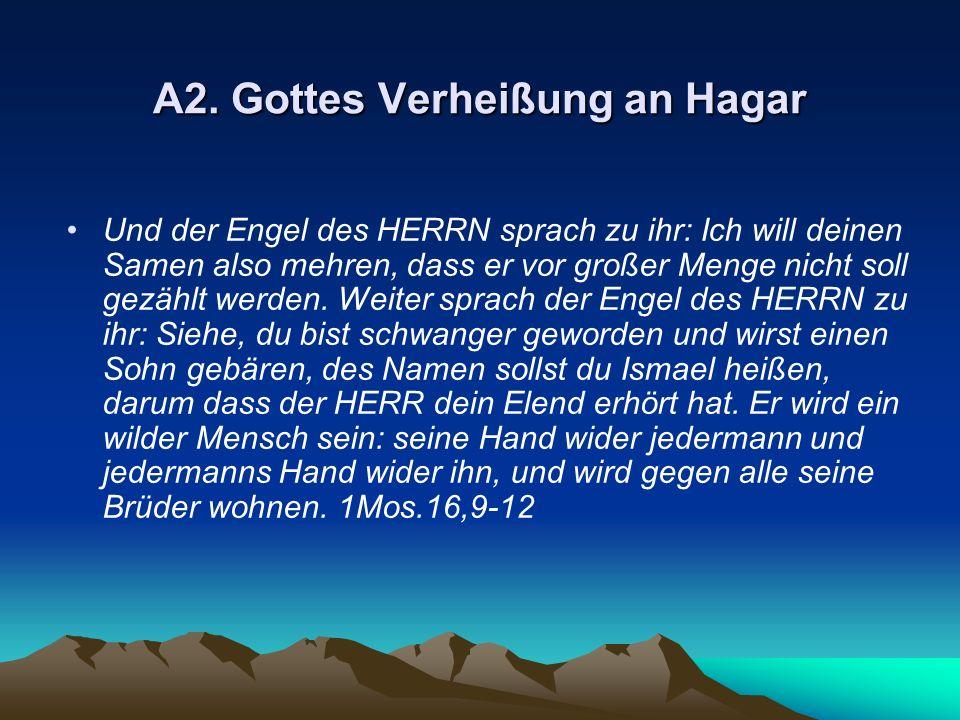 A2. Gottes Verheißung an Hagar